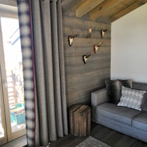 made to measure curtains for chalets - Les Gets, Morzine