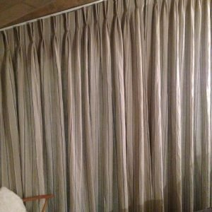 Trapezoid curtains made in Les Gets and Morzine